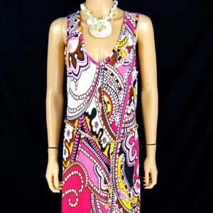 Cache colorful maxi dress size M